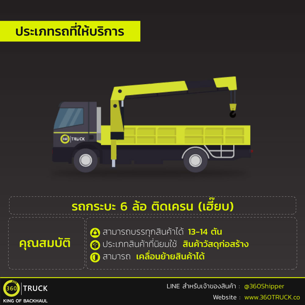 6 wheel crane